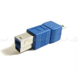 Adaptador USB 3.0 a USB 2.0 (USB-B/MiniUSB-B 5 Pins)