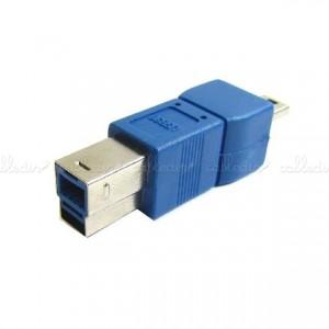 Adaptador USB 3.0 a USB 2.0 (USB-B/MiniUSB-A 5 Pins)