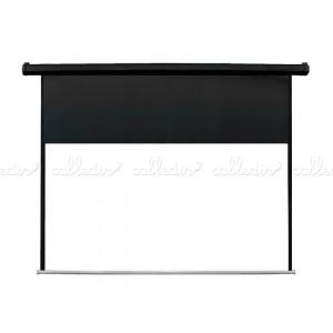Pantalla proyector 16:9 de fibra de vidrio y motorizada para pared o techo