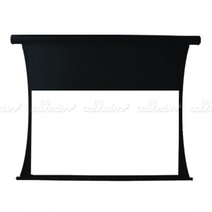 Pantalla proyector 16:9 de fibra de vidrio, motorizada y tensionada para pared o techo