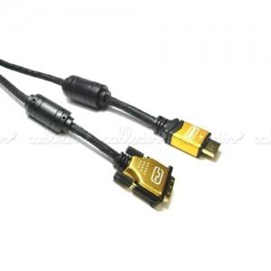 Cable HDMI 1.4 de tipo HDMI-A macho a DVI-D macho de alta calidad