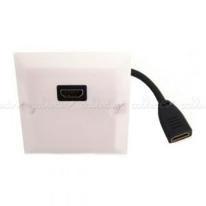 Caja de pared o canaleta de 80x80 con 1xHDMI-H configurable