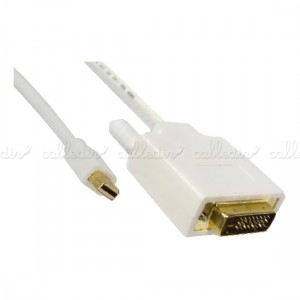 Cable mini DisplayPort macho a DVI-D macho