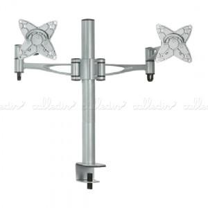 Soporte de mesa para 2 pantallas VESA 75/100 en horizontal