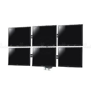 Soporte de mesa para 6 pantallas VESA 50/75/100