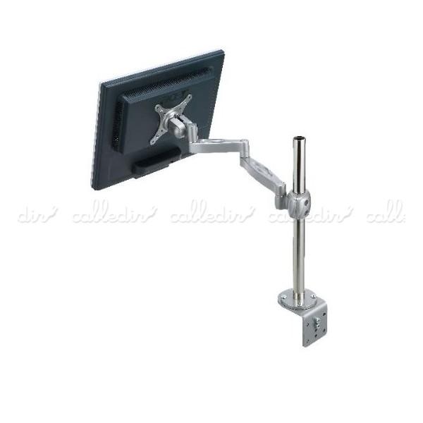 Soporte doble brazo articulado para monitor vesa 50 75 100 for Soporte monitor mesa