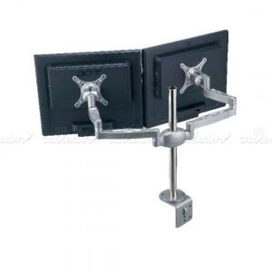 Soporte brazo articulado para 2 monitores en horizontal VESA 50/75/100