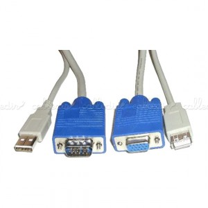 Cable VGA/USB (HD15+USB-A/HD15+USB-A)