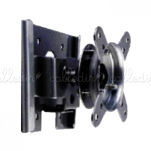 Soporte de pared de doble rotación para pantalla plana VESA 50/75/100