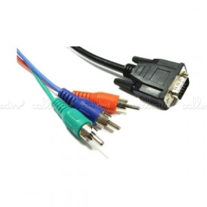 Cable de vídeo RGB 3xRCA-M a VGA (HD15-M)
