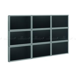 Soporte TV videowall modular (pieza vertical a pantalla)