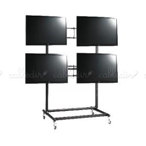 Soporte TV videowall 2x2 con ruedas