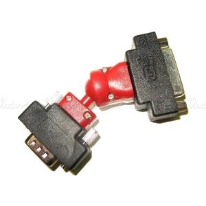 Adaptador rotor DVI/VGA (DVI-I/HD15)