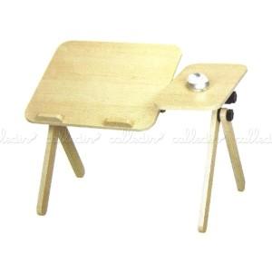 Mesa de madera para portátil y ratón