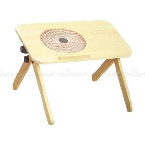 Mesa de madera con ventilador para portátil