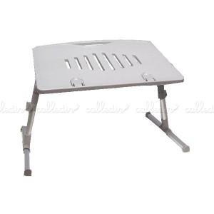 Mesa de plástico para portátil de color gris