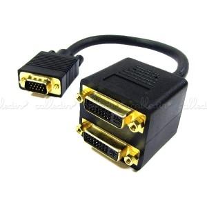Cable duplicador pasivo de 1 VGA a 2 DVI