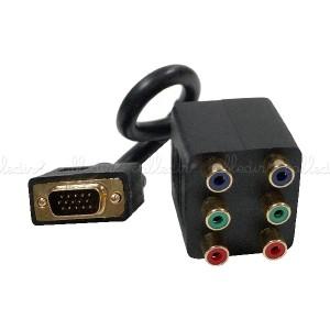 Cable duplicador pasivo de 1 VGA a 2 3xRCA-H