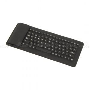 Teclado flexible USB mini de 85 teclas y negro