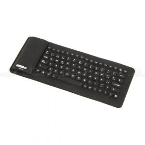 Teclado flexible Bluetooth mini de 85 teclas y negro