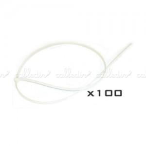 Bridas nylon (100 uds) en blanco o negro