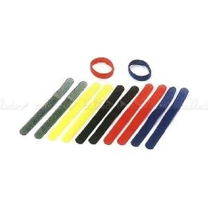 Tira velcro ordena cables 20x185 mm (10 unidades) multicolor