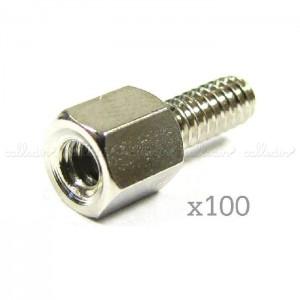 Tornillería para conector D-Sub (100 uds)
