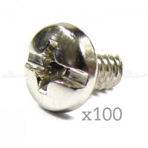 Tornillería para PC tipo 6-32 de 6 mm (100 uds)