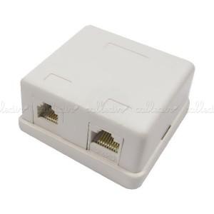 Caja de superficie de 1 RJ11 Cat.3 y 1 RJ45 Cat. 5e UTP