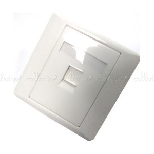 Placa de pared para cajetín de 80x80 compatible TB-110 de 1 puerto