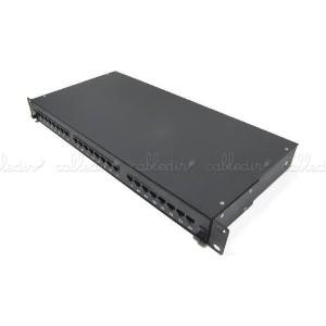 Patch panel de 24 RJ45 Cat. 5e UTP 1U negro en cajón extraible
