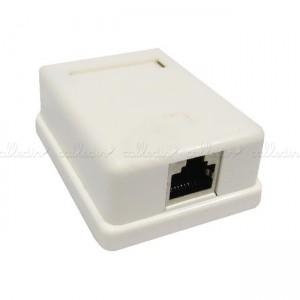 Caja de superficie de 1 RJ45 de categoría 5e FTP