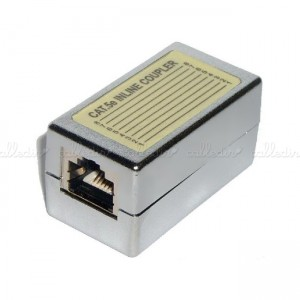 Empalme de cable FTP Cat. 5e RJ45 hembra a RJ45 hembra