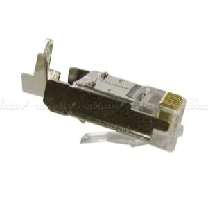 Conector STP de categoría 5e RJ45 macho con clip