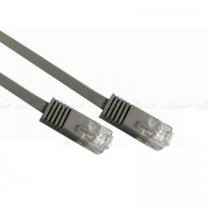 Cable UTP de categoría 6 plano gris