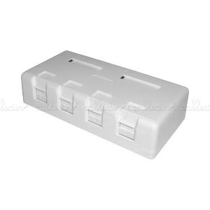 Caja de superficie de 4 RJ45 Cat. 6 FTP