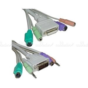 Cable DVI con teclado, ratón y audio ATX