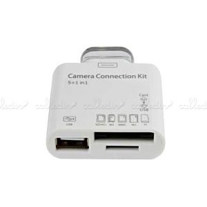 Adaptador USB y lector tarjetas de memoria para Apple iPad 30pin