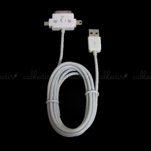 Cable de sincronización para MicroUSB MiniUSB Apple 30pin