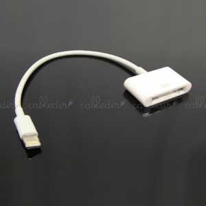 Cable compatible con Apple 30pin hembra a Lightning 8pin macho